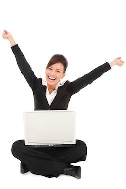 Счастливый пользователь компьютера